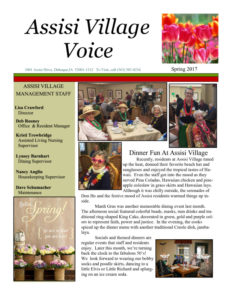 thumbnail of Assisi newsletter spring 2017