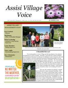 thumbnail of Assisi newsletter summer 2016