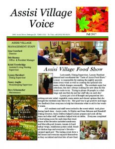 thumbnail of Assisi Fall 2017 Newsletter