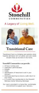 thumbnail of Transitional Care Rack Card 2020